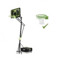 Mobilus krepšinio stovas su spyruokliuojančiu lanku Exit Galaxy Black 112x73cm Basketball stands