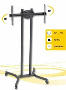 Mobilus stovas skirtas Techly TV LCD/LED/Plasma 37-70 VESA, pivot