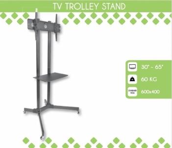 Mobilus stovas Techly sk TV LCD/LED/Plazma 30-65 60kg VESA palenk. su lent. TV stovai, laikikliai