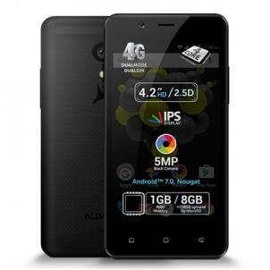 "Mobilus telefonas Allview P4 Pro melns, 4.2 "", HD IPS, 768 x 1280 pixels, Internal RAM 1 GB, 8 GB, microSD, Dual SIM, 3G, 4G, Main camera 5 MP, Second camera VGA MP, Android, 7.0, 1600 mAh, Warranty 24 month(s) Mobilie tālruņi"