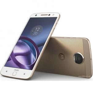 "Mobilus telefonas Motorola Moto Z XT1650-03 White-Gold, 5.5 "", AMOLED, 1440 x 2560 pixels, Qualcomm Snapdragon, 820, Internal RAM 4 GB, 32 GB, microSD, Single SIM, Nano-SIM, 3G, 4G, Main camera 13 MP, Second camera 5 MP, Android, 6.0.1, 2600 mAh, Wa"
