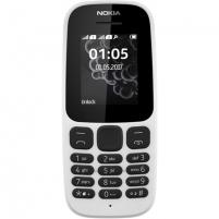 "Mobilus telefonas Nokia 105 (2017) White, 1.4 "", TFT, 120 x 160 pixels, 4 MB, 0.004 GB, Dual SIM, Mini-SIM, USB version microUSB 2.0, 800 mAh, 73 g, 1.44 cm, 11.2 cm, 4.95 cm, Warranty 24 month(s)"