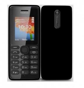 Mobilusis telefonas Nokia 108 Black Mobile Phone Dual Sim Mobilūs telefonai