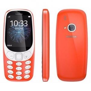 "Mobile phone Nokia 3310 (2017) Red, 2.4 "", TFT, 16 MB, microSD, Dual SIM, Micro-SIM, Bluetooth, 3.0, USB version microUSB 2.0, Built-in camera, Main camera 2 MP, 1200 mAh, 5.1 cm, 11.56 cm, 1.28 cm, Warranty 24 month(s)"