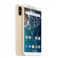 "Mobilusis telefonas Xiaomi Mi A2 Gold, 5.99 "", LTPS IPS LCD, 1080 x 2160 pixels, Qualcomm Snapdragon, 660, Internal RAM 4 GB, 32 GB, Dual SIM, Nano-SIM, 3G, 4G, Main camera Dual 12+20 MP, Secondary camera 20 MP, Android, 8.1, 3000 mAh Mobilūs telefonai"