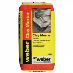 Molio mišinys VETONIT Clay mortar Ražojumi mūra darbiem javas