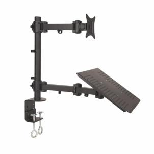 Monitoriaus laikiklis ART-23 LCD/LED juodas 13-27+notebook desk moutin
