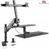 Monitoriaus laikiklis Maclean MC-797 Holder for two monitors and a keyboard up to 8kg 13 -32