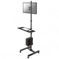 Monitoriaus stovas NewStar Mobile Workplace Floor Stand (monitor, keyboard/mouse & PC) Monitorių laikikliai, stovai