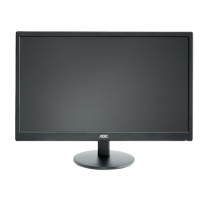 Monitorius AOC E2470SWHE 23.6'' TN LED/16:9/1920×1080/250cdm2/5ms/H-170,V-160/20M:1/HDMI/D-Sub,Tilt,Vesa/Black