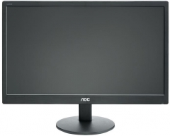 Monitorius AOC E970SWN 18.5'' LED/16:9/1366×768/200cdm2/5ms/H-90,V-65/20M:1/VGA/Tilt,Vesa/Black LCD ir LED monitoriai