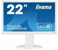 Monitorius Iiyama B2280HS-W1 21.5 LED FHD, HAS, HDMI, Garsiakalbiai, Baltas