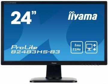 Monitorius Iiyama B2483HS-B3 24inch, TN, Full HD, DVI, HDMI, speakers