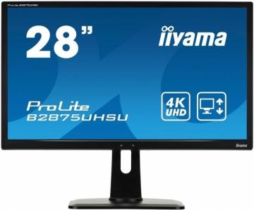 Monitorius Iiyama B2875UHSU-B1 28 4K, D-Sub/DVI/HDMI(MHL)/DP, USBx3, Garsiak. LCD ir LED monitoriai