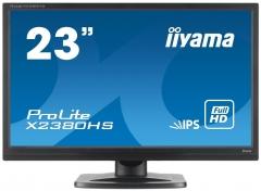 Monitorius Iiyama Prolite X2380HS-B1 23 IPS FHD, DVI, HDMI, Garsiakalbiai