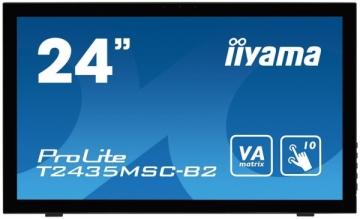Monitorius Iiyama T2435MSC-B2 23.6inch, VA touchscreen, Full HD, DVI-D, HDMI, DP
