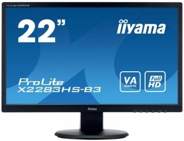 Monitorius Iiyama X2283HS-B3 21.5, panel VA, D-Sub/HDMI/DP, Garsiakal.