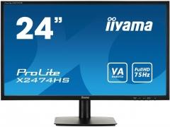 Monitorius Iiyama X2474HS-B1 23,6inch, panel VA, D-Sub/HDMI/DP, speakers