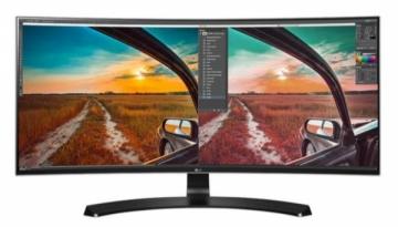Monitorius LG 34UC88-B 34, IPS, QHD, HDMI/USB 3.0, curved, garsiakalbiai