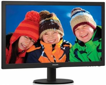 Monitorius Philips 243V5LHAB/00, 23,6, DVI/HDMI, ES 6.0, juodas