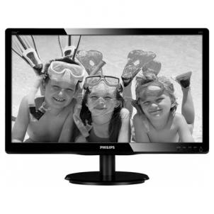 Monitor PHILIPS 246V5LSB 24'' LED/16:9/1920x1080/250cdm2/5ms/H-170,V-160/10M:1/VGA,DVI-D/Tilt,Vesa/Glossy Black Lcd monitors