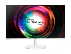 Monitorius Samsung LC27H711QEUXEN 27 WQHD, VA, Curved, Q-Dot, FreeSync, Baltas
