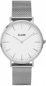 Moteriškas laikrodis Cluse La Bohème Mesh Silver/White