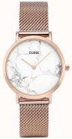 Sieviešu pulkstenis Cluse LaRochePetite Mesh Rose Gold/White Marble