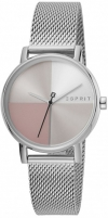 Moteriškas laikrodis Esprit Levels Silver Pink Mesh ES1L075M0065