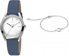 Moteriškas laikrodis Esprit Lock Stones Silver Blue SET ES1L117L0015