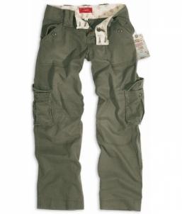 Moteriškos kelnės Ladies Trousers oliv vintage Surplus Tactical bikses, tērpi
