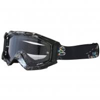 Motociklininko akiniai MAJOR W-TEC su grafika Motocikla brilles