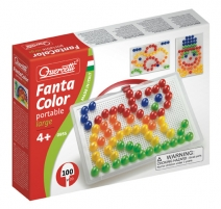 Mozaika Puzzle Quercetti 0955 Fanta Color portable large no 4g. Dėlionės vaikams