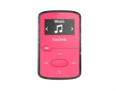 MP3 grotuvas Sandisk CLip Jam MP3 Player 8GB, microSDHC, Radio FM, Pink MP3 grotuvai, ausinukai