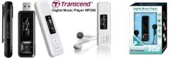 MP3 grotuvas Transcend MP330 8GB Baltas, FM radijas, 1 OLED ekranas MP3 grotuvai, ausinukai