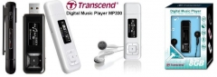 Mp3 player Transcend MP330 8GB Juodas, FM radijas, 1 OLED ekranas