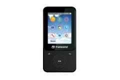 MP4 grotuvas Transcend MP710 2 8GB, FM, microUSB, Fitness Tracker, Juodas
