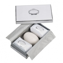 Muilas Castelbel Gift set of three luxury white & Silver soaps 3 x 150 g Muilas