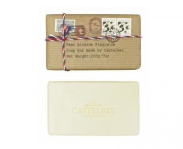 Muilas Castelbel Luxury fine soap in the shape of a postcard - Pear flower 200 g Muilas