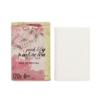 Muilas Castelbel Luxury soft soap in a tin box Pink lily and white tea 170 g Muilas