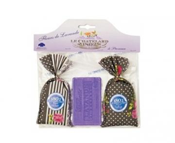 Muilas Le Chatelard Gift set Lavender sachet 2 x 18 g and lavender soap 100 g Muilas