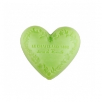 Muilas Le Chatelard Luxurious French natural soap heart shaped Olive and lime flower 100 g Muilas