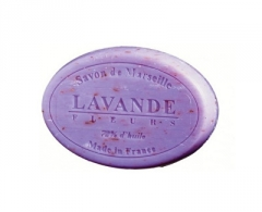 Muilas Le Chatelard Luxurious French natural soap oval Lavender flowers 100 g Muilas