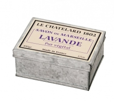 Muilas Le Chatelard Natural French soap with lavender scent in a 100g retro box Muilas