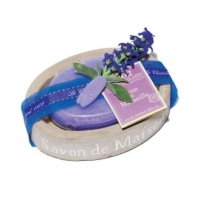 Muilas Le Chatelard Oval soap in stone imitation with luxurious soap Lavender 100 g Muilas