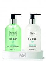 Muilas Scottish Fine Soaps Gift set in a stand Sea Seaweed Liquid Soap 300 ml + Hand Milk 300 ml Muilas