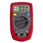 Multimetras skaitmeninis, įtampa DC 200mV-250V, AC 200V-250V, srovė DC 2000uA-10A, varža 200-20 megaomai, diodų testavimas, temperatūros, nuolatinės grandinės matavimas, CATII, UT33C UNI-T Digital multimeters
