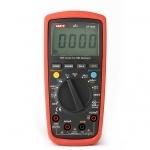 Multimetras skaitmeninis, įtampa DC 200mV-600V, AC 2V-600V, srovė DC/ AC 200uA-10A, varža 600-60 megaomai, diodų testavimas, tranzisorių, nuolatinės grandinės, talpos matavimas CATIII, UT139C UNI-T Digital multimeters