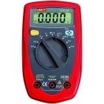 Multimetras skaitmeninis, įtampa DC 400mV-250V, AC 4V-250V, srovė DC/AC 400uA-10A, varža 400-40 megaomai, diodų testavimas, tranzisorių, nuolatinės grandinės matavimas, CATII, UT33A UNI-T Digital multimeters