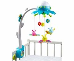 Muzikinė karuselė | su drugeliais ir ant lubų projekcija | mėlyna | Smoby